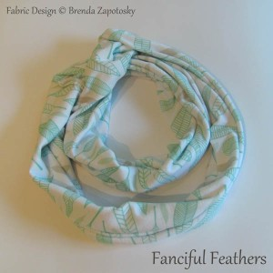 Fanciful Feathers Icy Infinity Scarf by Brenda Zapotosky