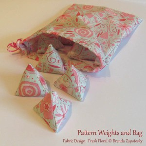 Fresh Floral Pattern Weights by Brenda Zapotosky