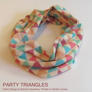 Party Triangles Mini Cowl Promo Square by Brenda Zapotosky with Words