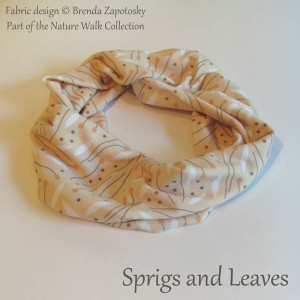 Sprigs and Leaves Light Mini Cowl by Brenda Zapotosky
