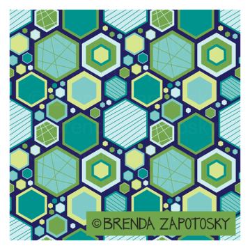 HIP HEXAGONS OCEAN