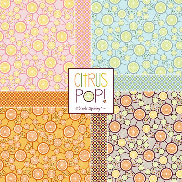Citrus Pop Collection by Brenda Zapotosky