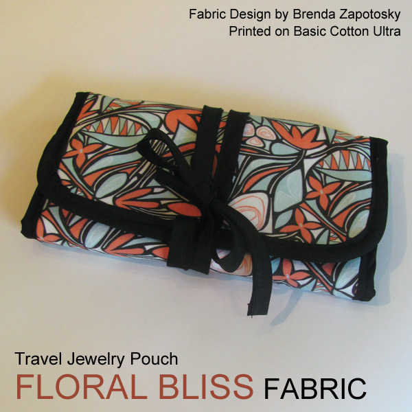 Floral Bliss Jewelry Pouch Folded by Brenda Zapotosky with Words