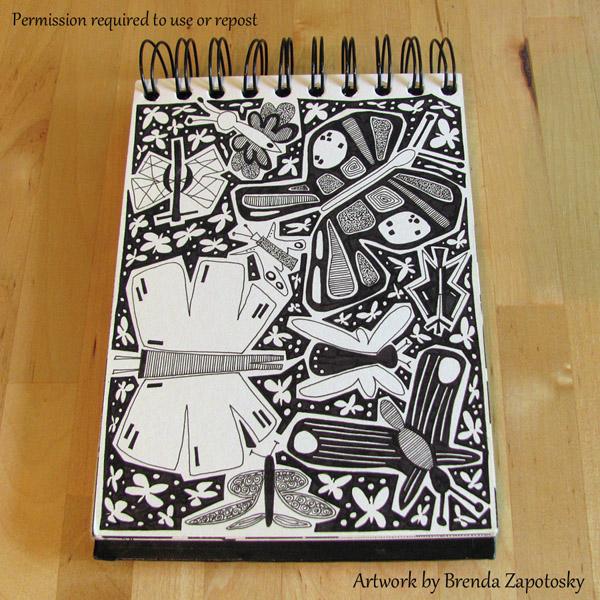 butterfly-doodle-by-brenda-zapotosky