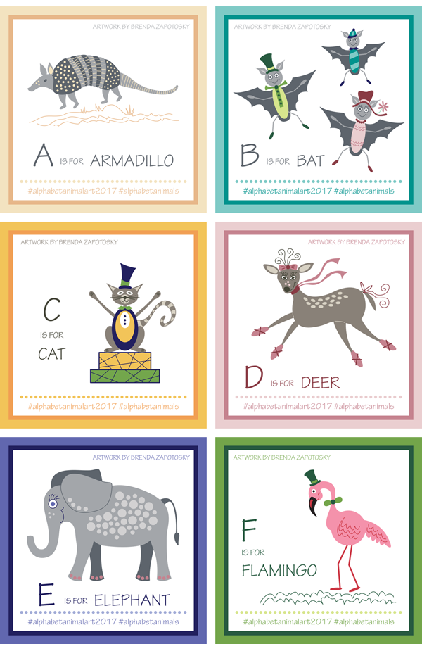 Alphabet Animals A thru F by Brenda Zapotosky