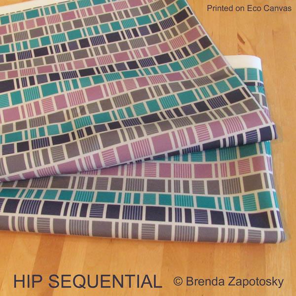 Hip Sequential on Eco Canvas by Brenda Zapotosky
