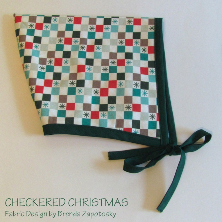 Checkered Christmas Hat Festive by Brenda Zapotosky