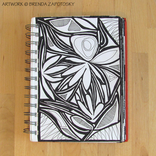 Floral Bliss Doodle by Brenda Zapotosky