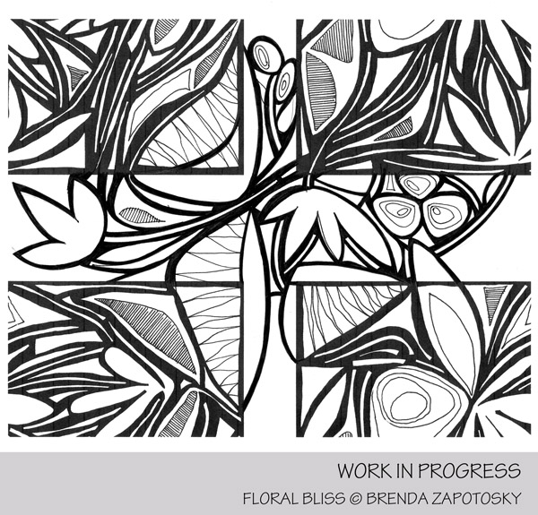 Floral Bliss In Progress Pattern Creation by Brenda Zapotosky