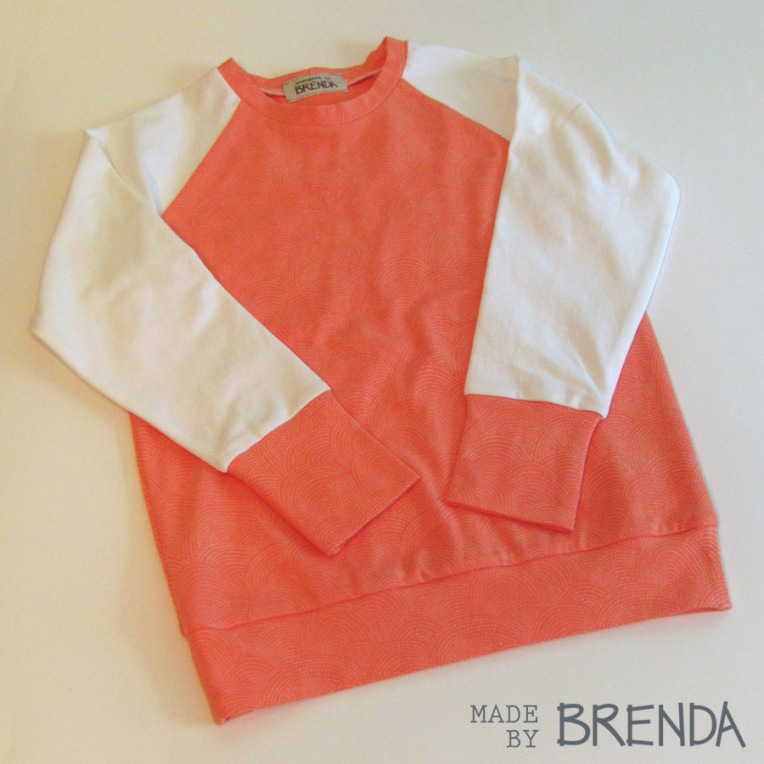 Nieces Raglan Shirt sewn by Brenda Zapotosky