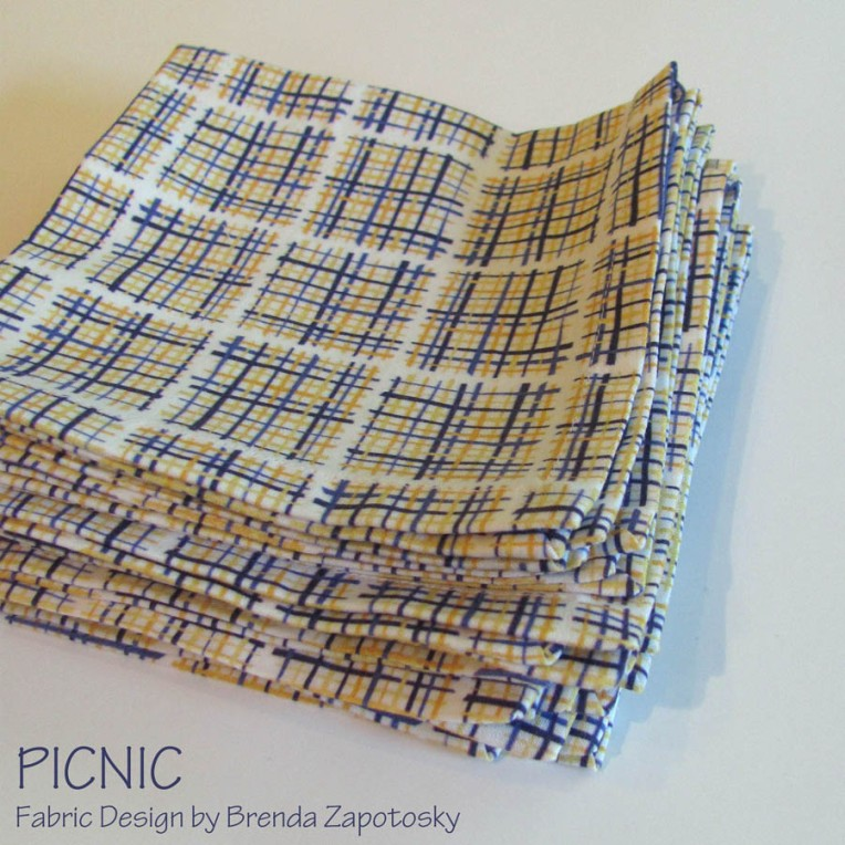 Stacked Picnic Napkins by Brenda Zapotosky