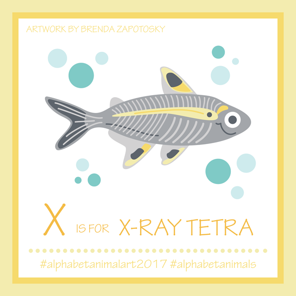 X is for X Ray Tetra by Brenda Zapotosky