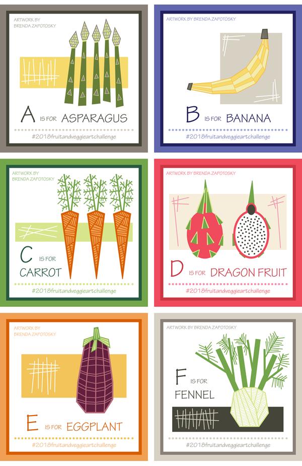 A thru F Fruit and Veggies by Brenda Zapotosky