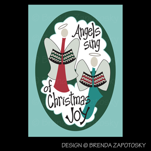 Angels Sing Card by Brenda Zapotosky Web Sm