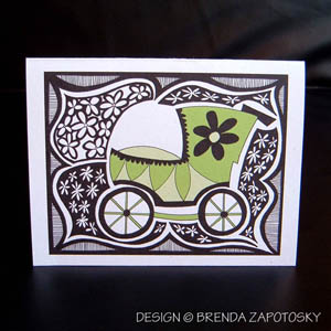 BdoodleZ Green Buggy Card by Brenda Zapotosky Web Sm