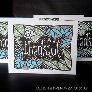 BdoodleZ So Thankful Card by Brenda Zapotosky Web Sm