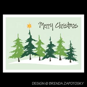 Christmas Evergreens Card by Brenda Zapotosky Web Sm