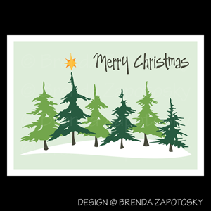 Christmas Evergreens Card by Brenda Zapotosky Web Sm