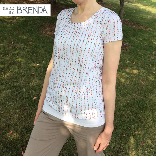 Lark Tee in Pebbles fabric by Brenda Zapotosky 1