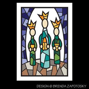 Mosaic Wise Men Card by Brenda Zapotosky Web Sm
