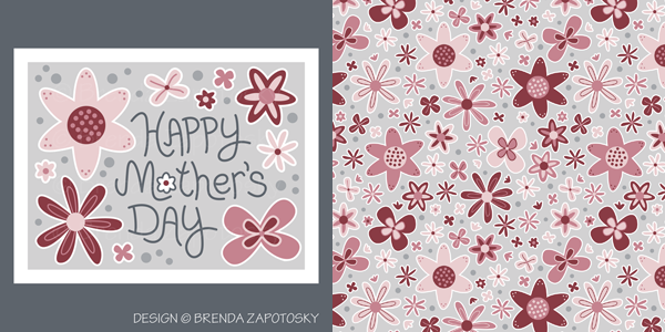 Mothers Day Card and Ballet Flowers Pattern by Brenda Zapotosky Web