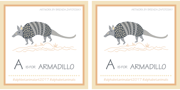 Armadillo Illustration by Brenda Zapotosky