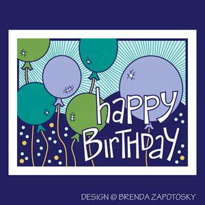 Birthday Balloons Blues by Brenda Zapotosky Web Sm