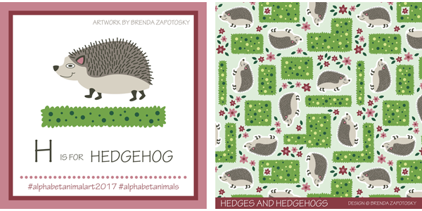 Hedgehogl Illustration by Brenda Zapotosky