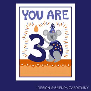 Koala Birthday Card by Brenda Zapotosky Web Sm