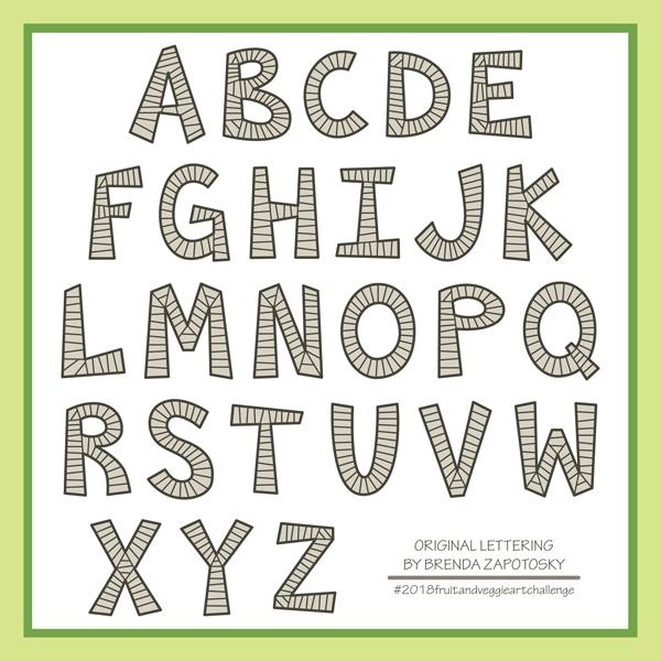 stripey block font by brenda zapotosky