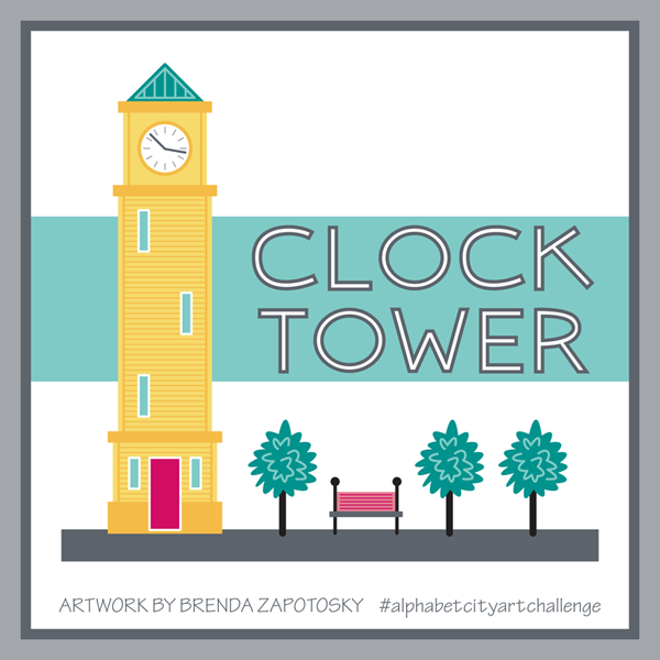 C is for Clock Tower by Brenda Zapotosky