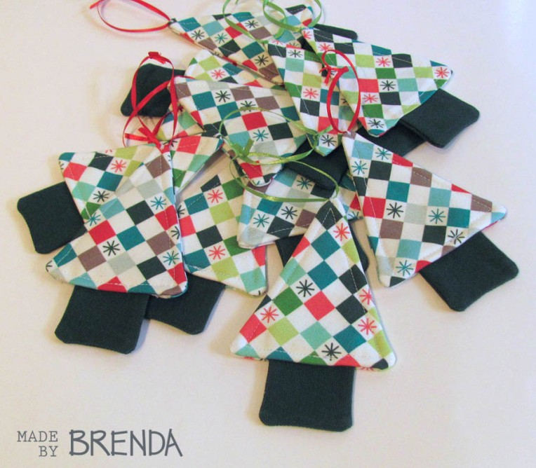 Checkered Christmas by Brenda Zapotosky Tree Ornaments 2