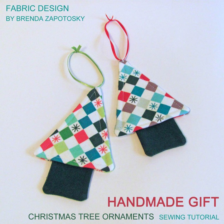 Checkered Christmas by Brenda Zapotosky Tree Ornaments 3