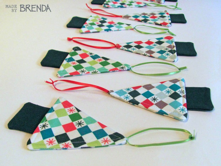 Checkered Christmas by Brenda Zapotosky Tree Ornaments