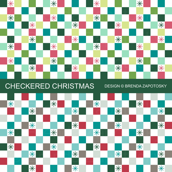Checkered Christmas Promo By Brenda Zapotosky