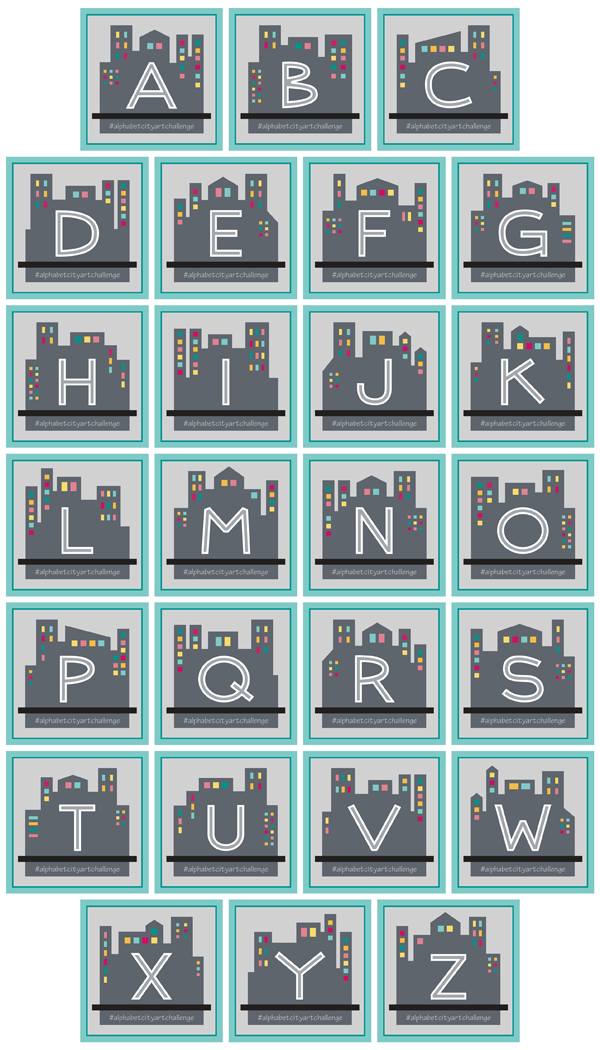 26 CITY Letter Blocks by Brenda Zapotosky