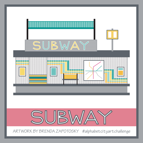 S is for Subway by Brenda Zapotosky